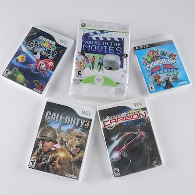 Assortment of Nintendo Wii, Xbox 360 and PlayStation 3 Games
