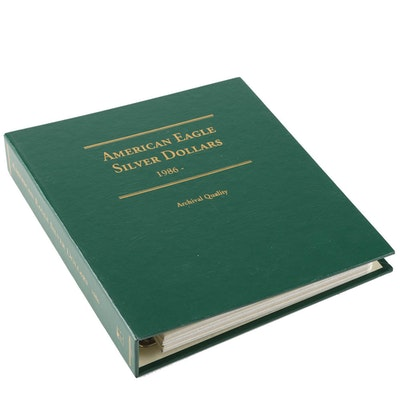 Collection Binder of American Silver Liberty Dollar Coins