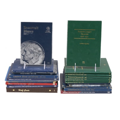Large collection of Filled and Unfilled Coin Display Booklets