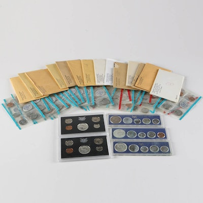 1950s and 1960s US Mint Proof Sets and Uncirculated Coins