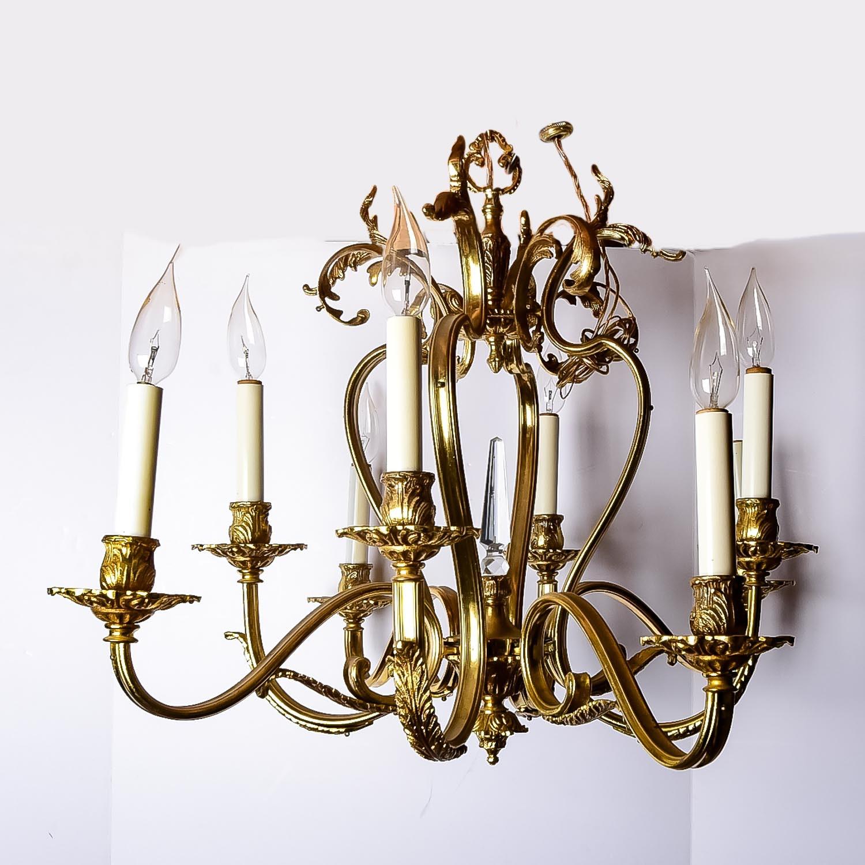 Brass Toned Chandelier
