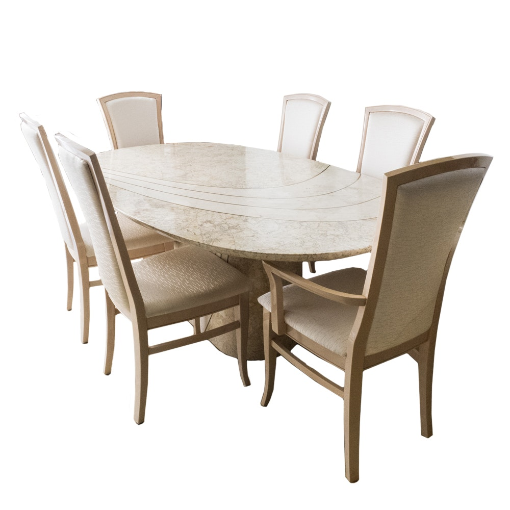 Maple Kitchen Table With Chair And Bench Ebth: Casa Bique Dining Table And Chairs