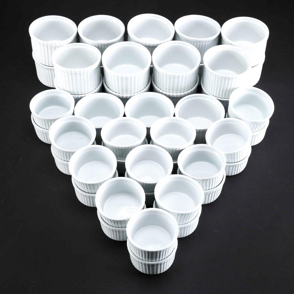 Set Of Porcelain Bia Blanc De Table And Crateu0026Barrel Ramekins ...
