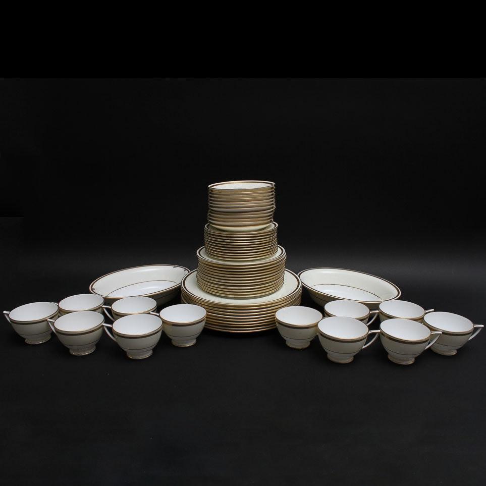 Set of White and Gold Tone Minton Bone China