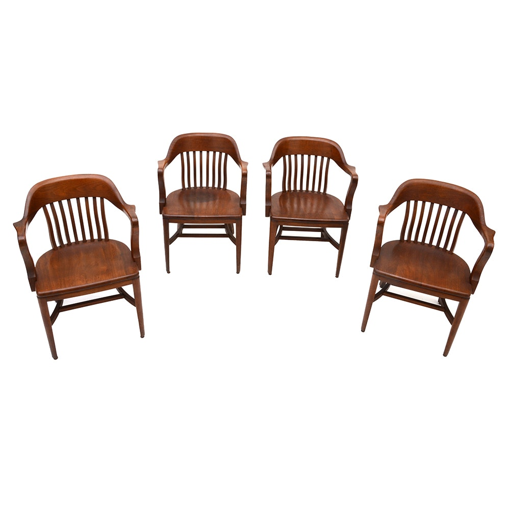Four Vintage Courtroom Chairs ...  sc 1 st  EBTH.com : courtroom chairs - Cheerinfomania.Com