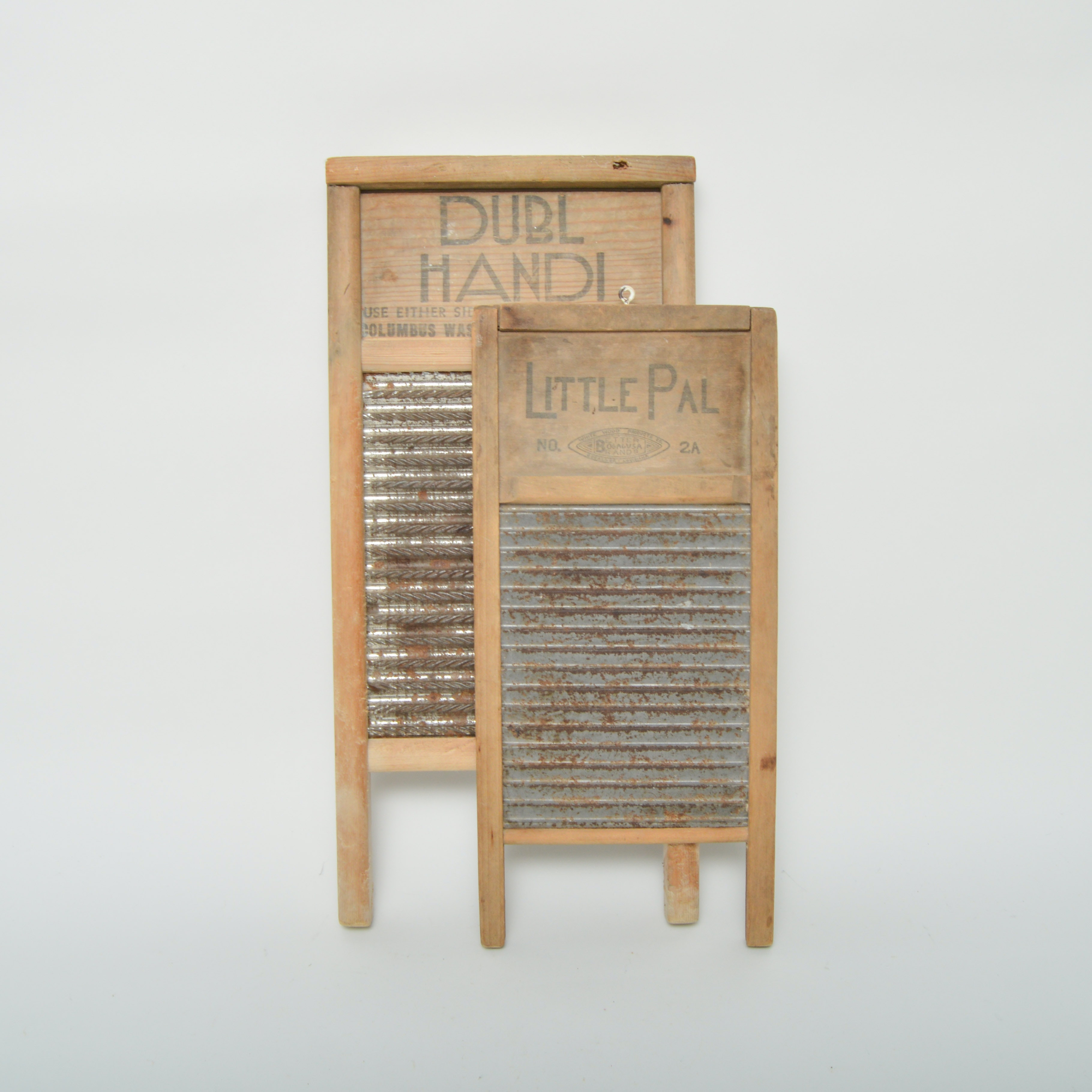 Two Small Vintage Washboards