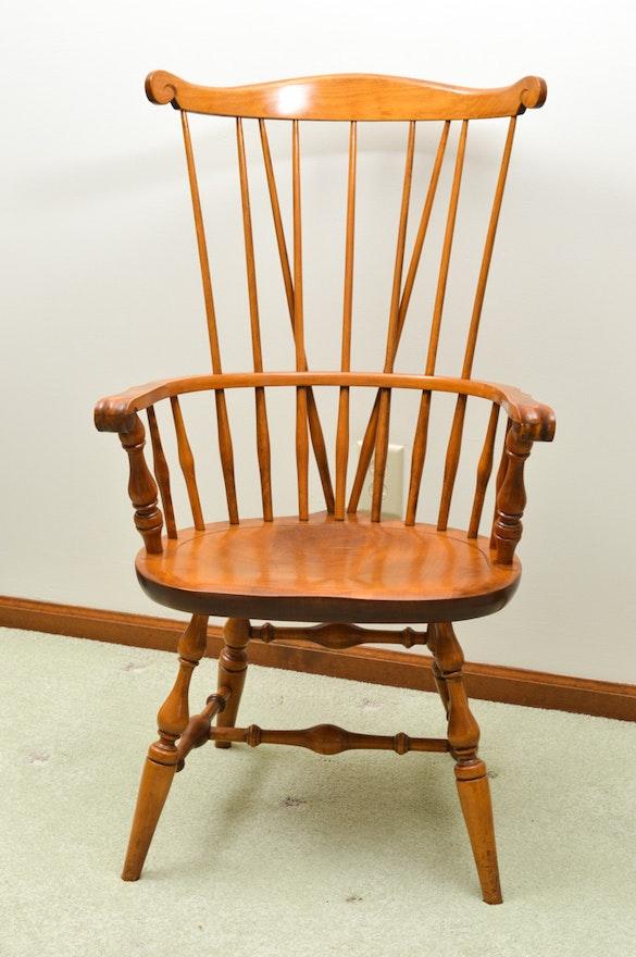 Six Vintage Nichols Amp Stone Co Quot Old Pine Quot Windsor Chairs