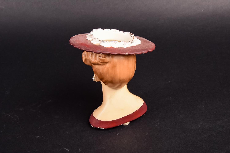 Three Circa 1950 Ceramic Lady Head Vases Ebth