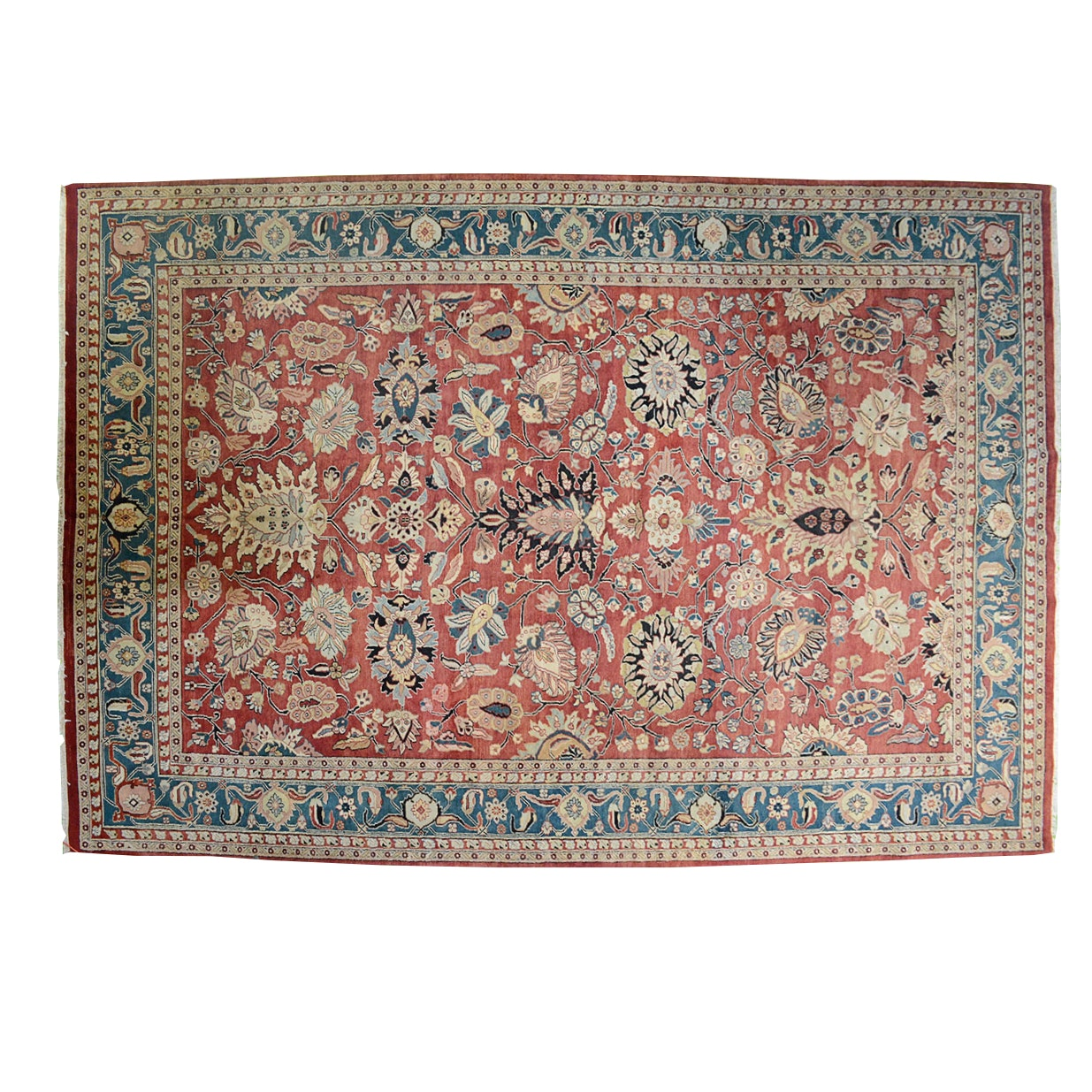Large Hand Knotted Mahal Area Rug