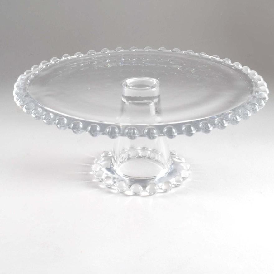 Vintage Candlewick Glass Cake Stand : EBTH