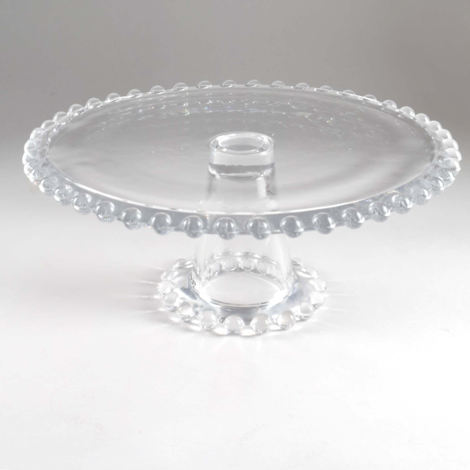 Vintage Candlewick Glass Cake Stand ... & Vintage Candlewick Glass Cake Stand : EBTH