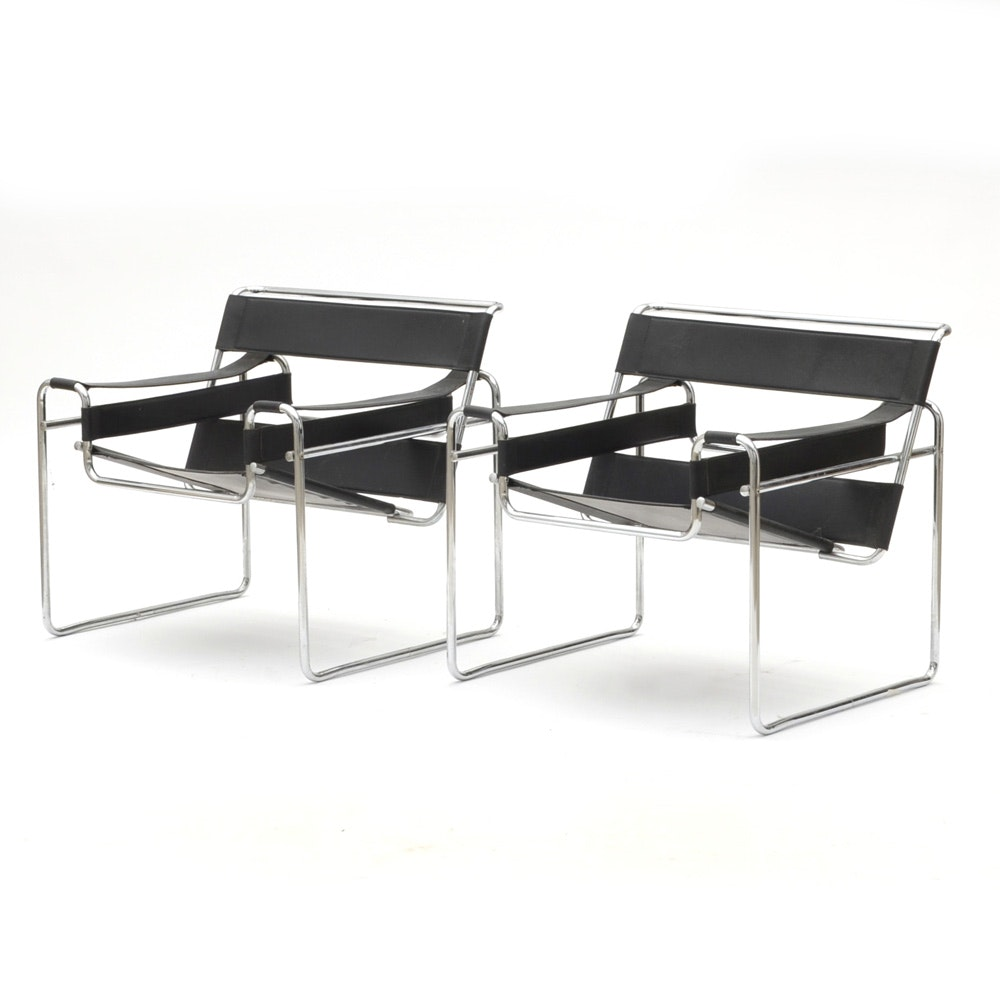 "Pair of Marcel Breuer ""Wassily"" Chairs"