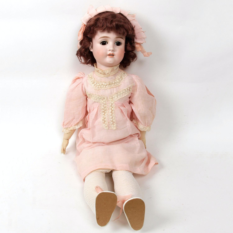 "Antique 29"" Collectible Schoenau & Hoffmeister German Doll"