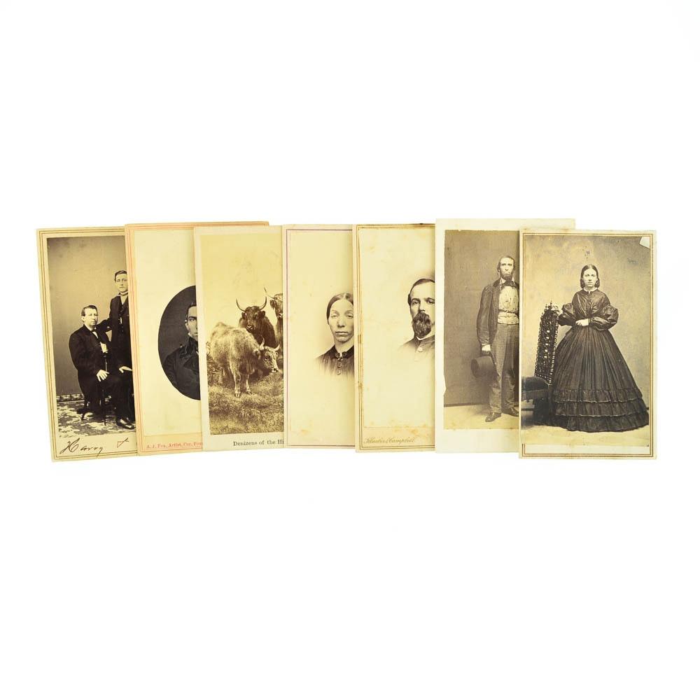 Antique Cabinet Card Photographs