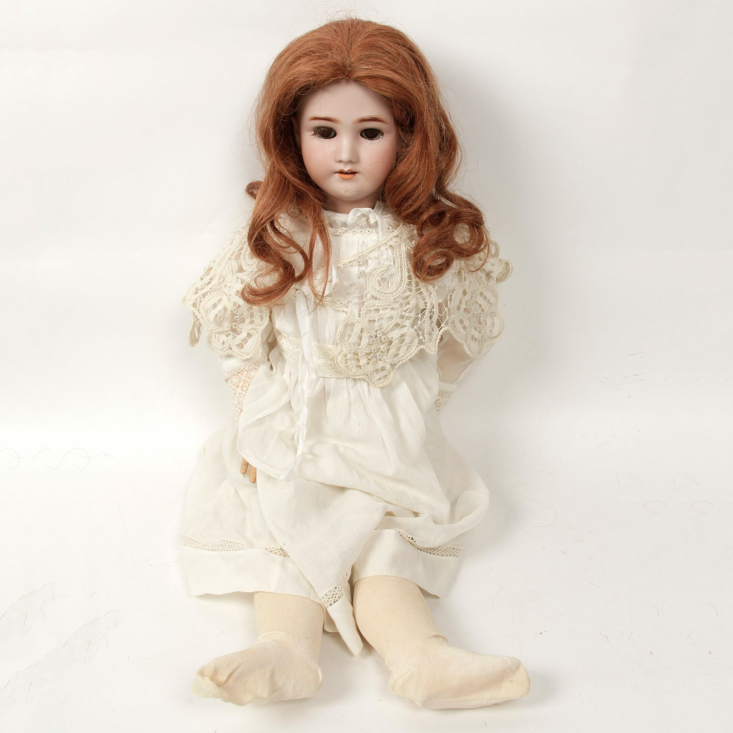 """Antique 28"""" Collectible German Doll by Simon & Halbig"""