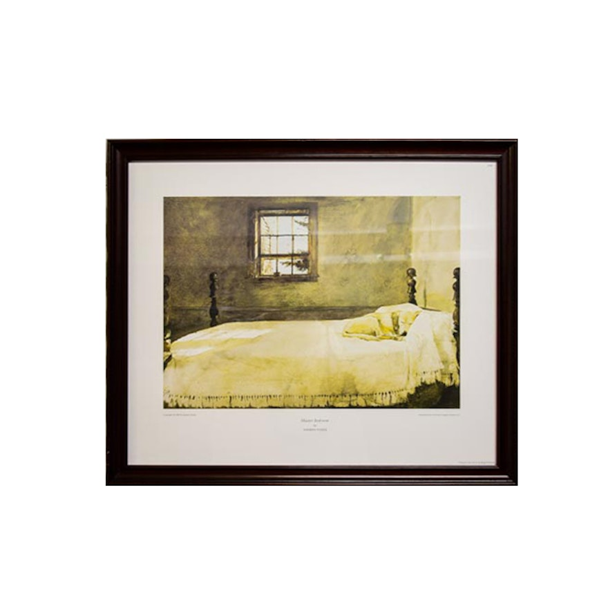 Framed print of andrew wyeth 39 s master bedroom ebth for The master bedroom print