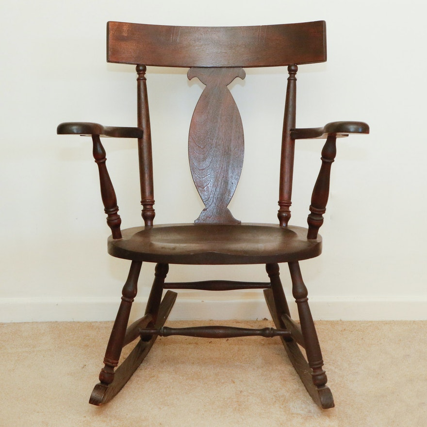Super Antique Fiddle Back Rocking Chair Inzonedesignstudio Interior Chair Design Inzonedesignstudiocom