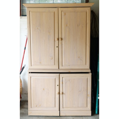 pickled cabinets vintage cabinets dressers and antique trunks auction in antiques
