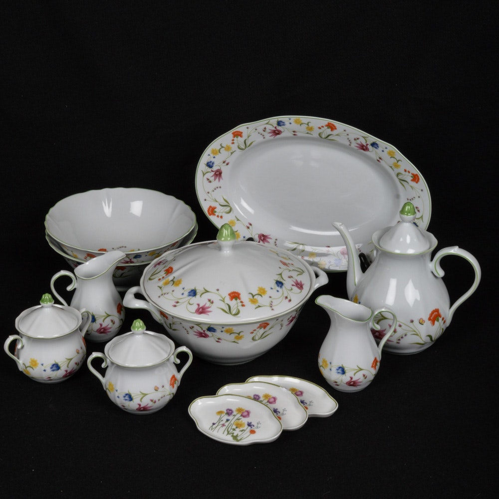 Collection of 1974 Vintage Denby Floral Fine China Tableware ... & Collection of 1974 Vintage Denby Floral Fine China Tableware : EBTH