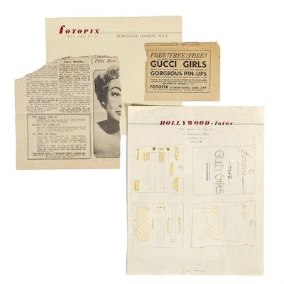 "Hand Drawn ""Gucci Girls"" Advertisement Design Draft by Guccione"