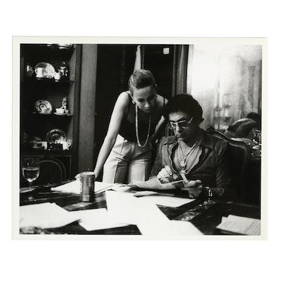 1980s Photographic Print of Bob Guccione and Kathy Keeton at Home