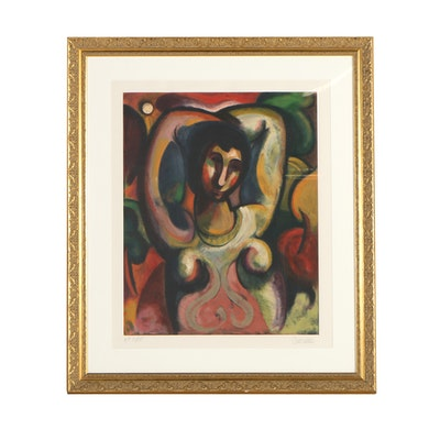 """Bob Guccione Framed Artist's Proof Lithograph """"Nude"""""""