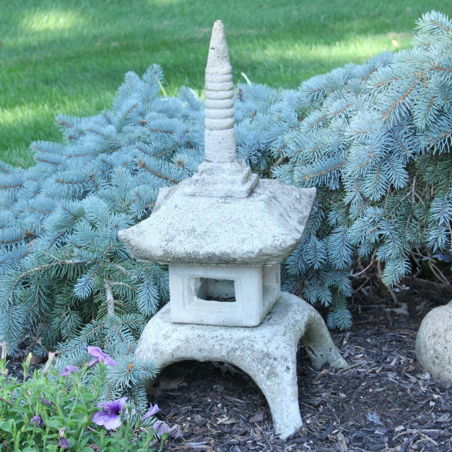 Concrete Pagoda Sculpture