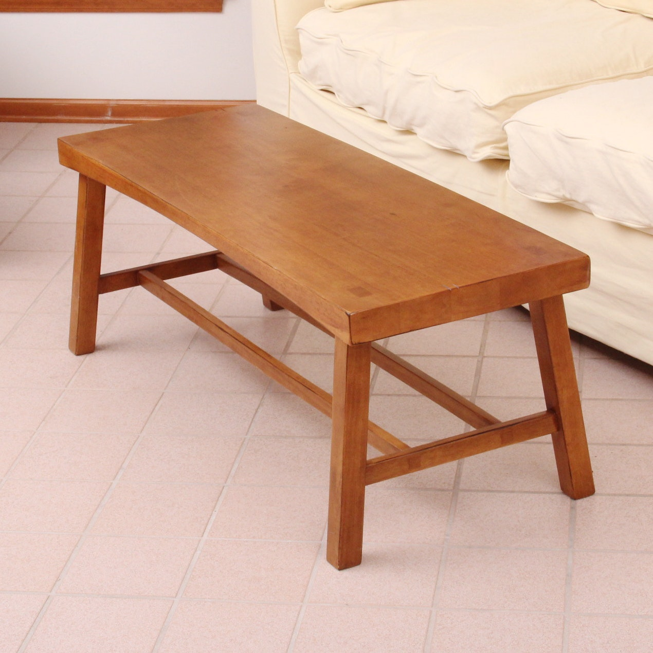 Wood Coffee Table Bench