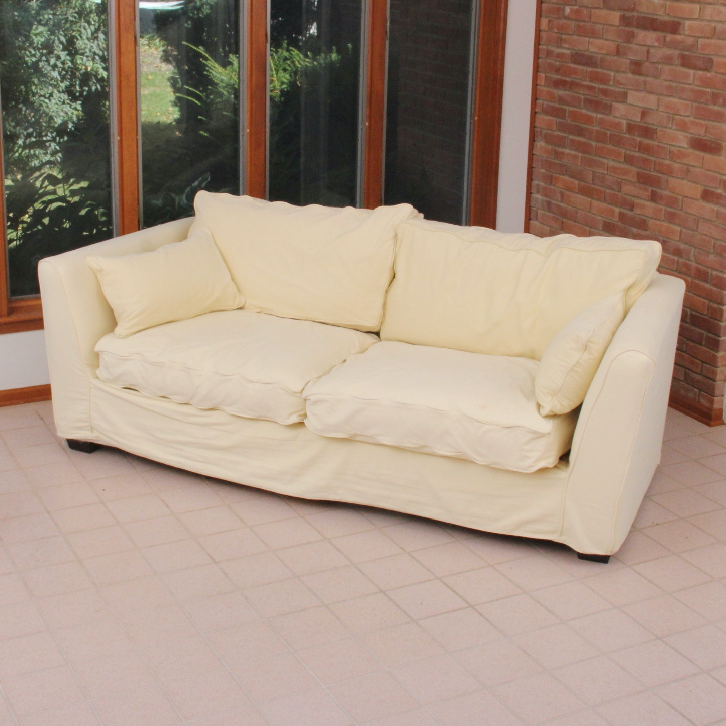 Upholstered Cream Sofa