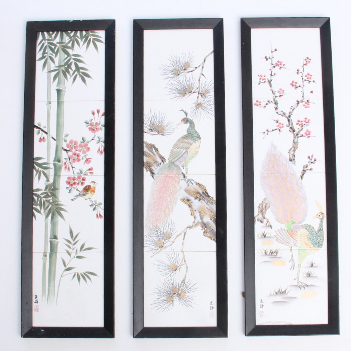 Hand Painted Chinese Tile Art