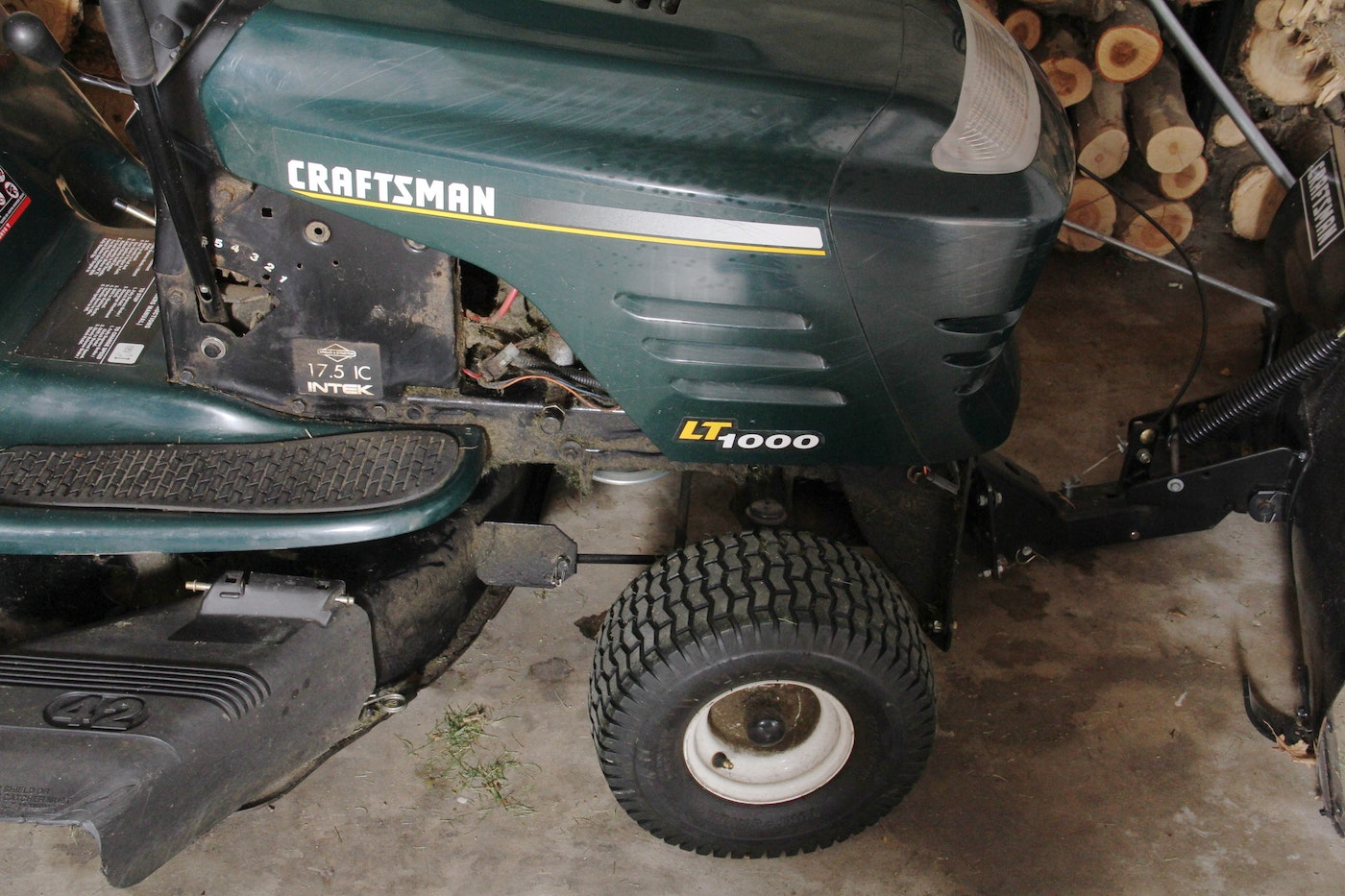Craftsman Lawn Mower Snow Plow : Craftsman lt quot riding lawnmower and snow plow