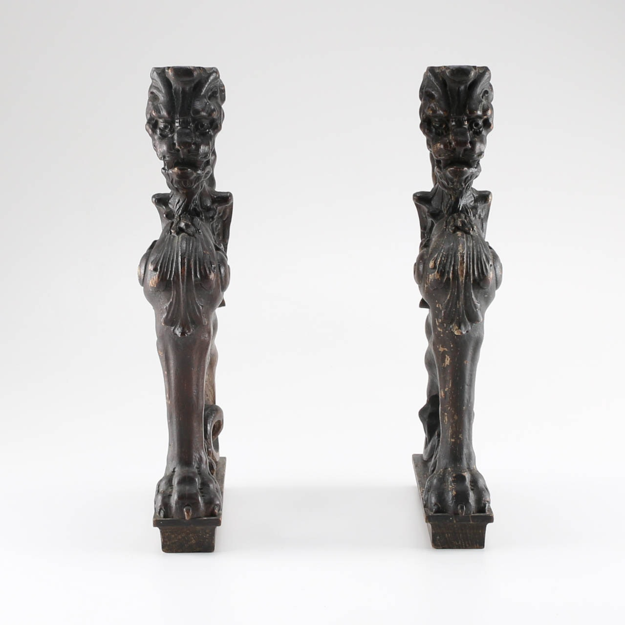 Early 20th Century Carved Winged Lion Table Base