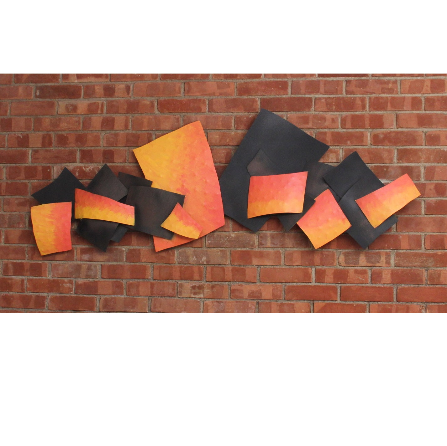 Painted Abstract Metal Sculputre