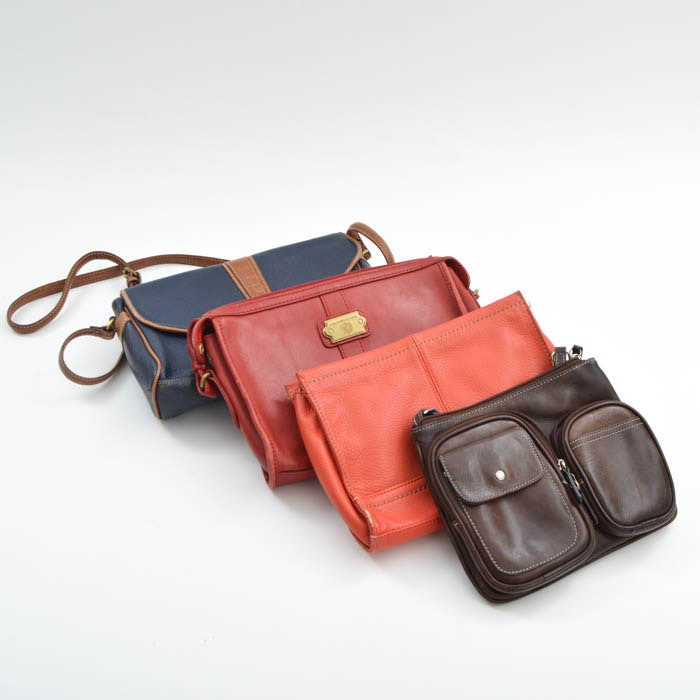 Four Leather Handbags
