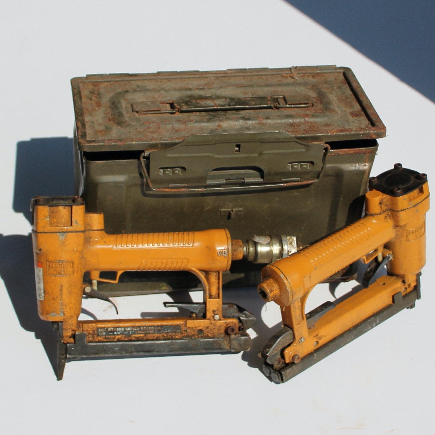 Bostich Pneumatic Staple Gun and Brad Gun in Case