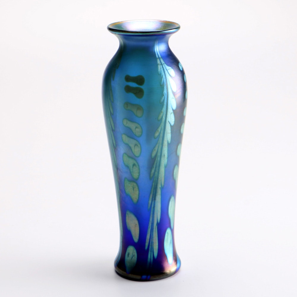 Louis Comfort Tiffany Amp Co Favrile Glass Vase Circa 1910