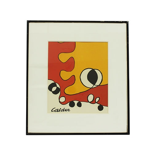 After Alexander Calder Abstract Lithograph in Color