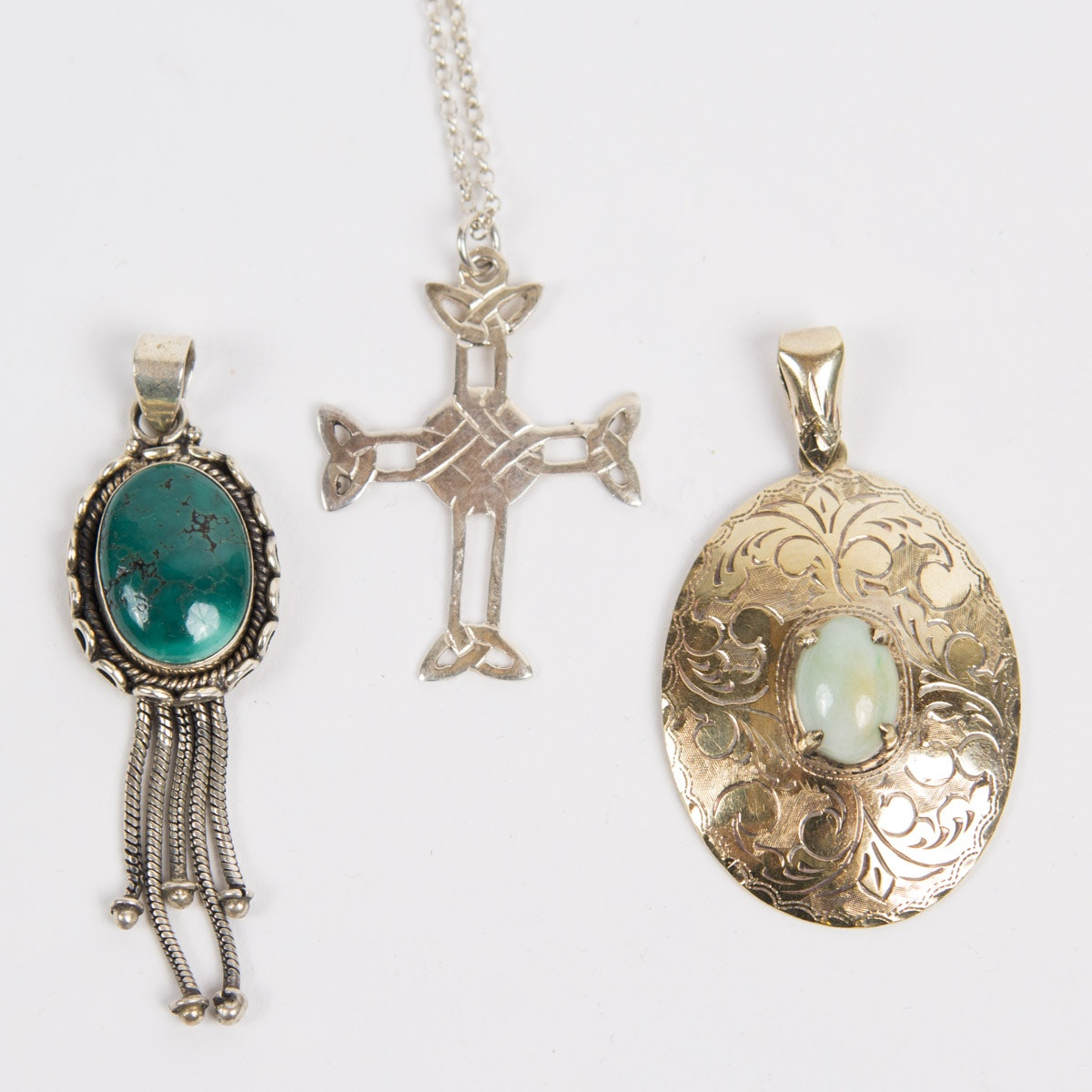 Sterling Silver Pendant and Necklace Set