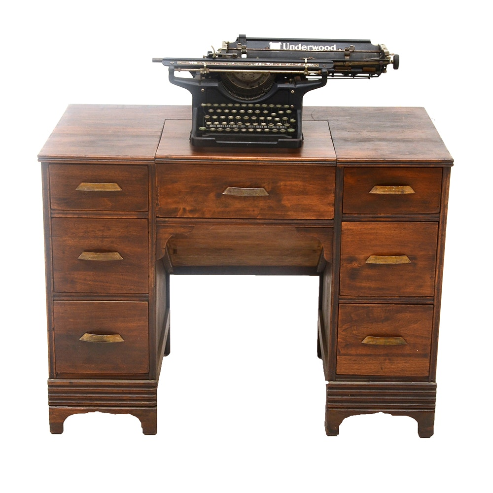Typewriter Desk Antique Antique Furniture
