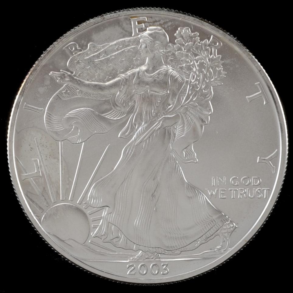 2003 One Dollar U.S. Silver Eagle