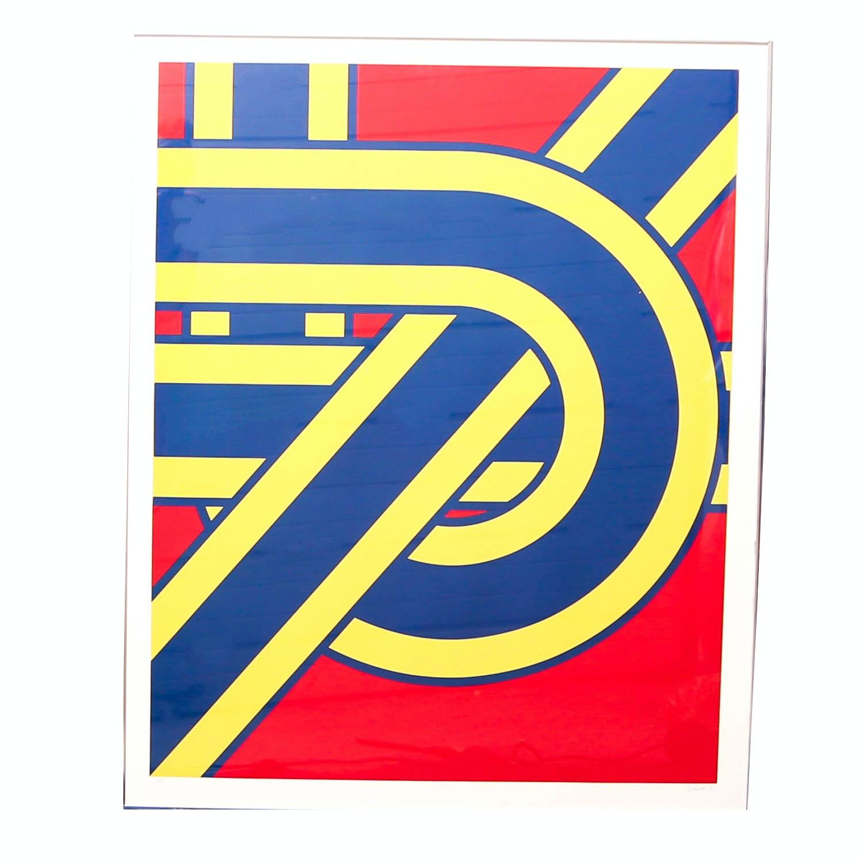 """Pierre Clerk """"Tension Series"""" Signed Artist Proof Serigraph"""