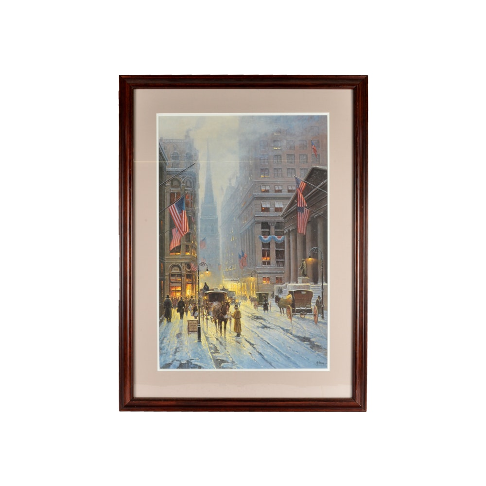G. Harvey Signed Limited Edition Offset Lithograph