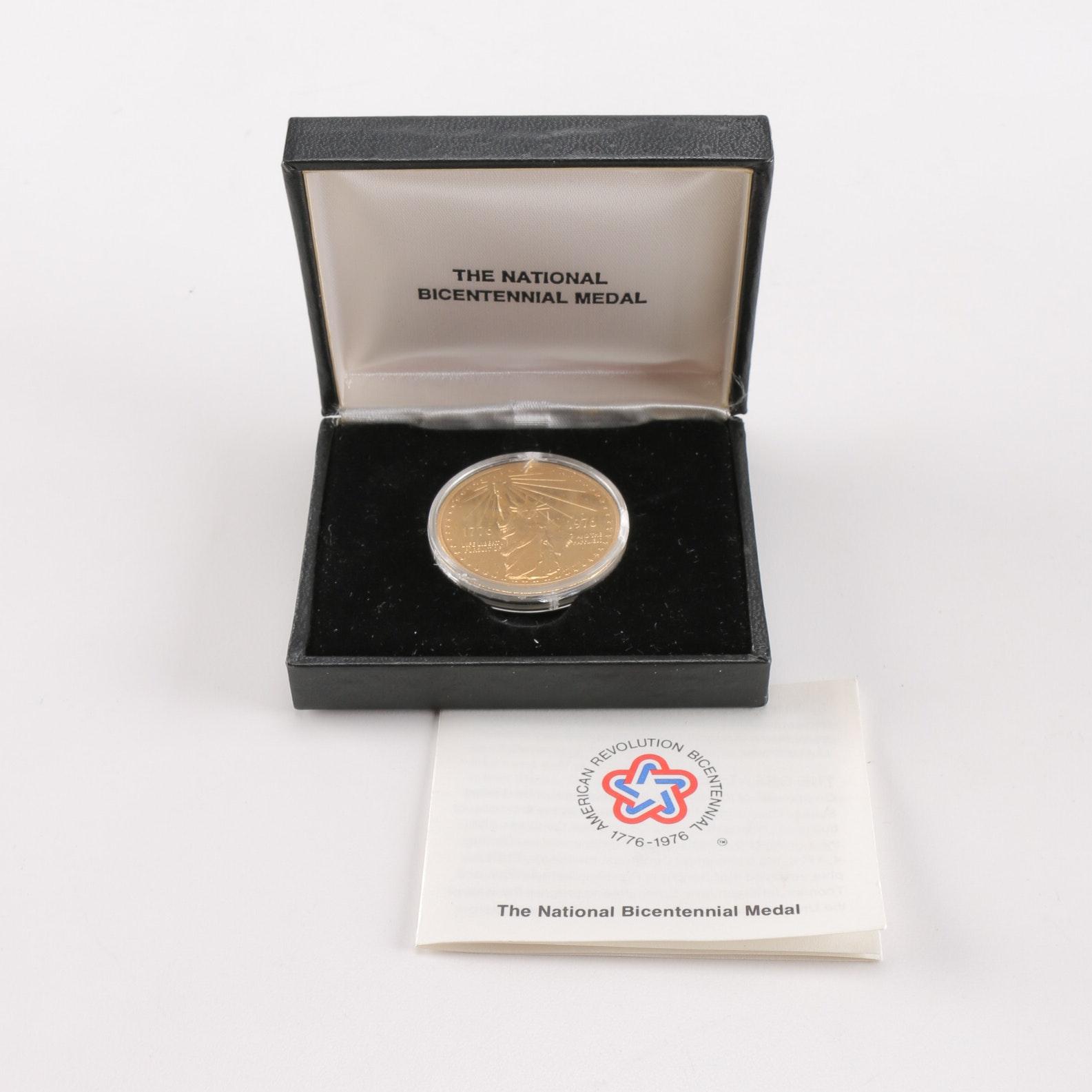 Gold Plated National Bicentennial Medal