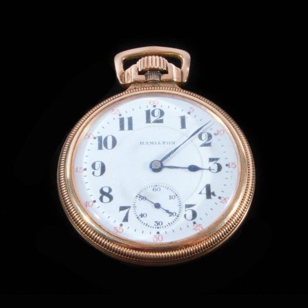 1919 Gold Filled Hamilton Watch Company Pocket Watch