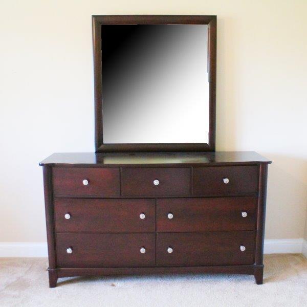 Mobel Cherry Dresser and Mirror
