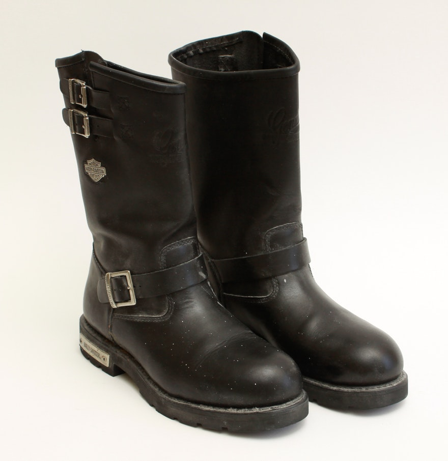 Men's Harley-Davidson Leather Motorcycle Boots Size 9 : EBTH