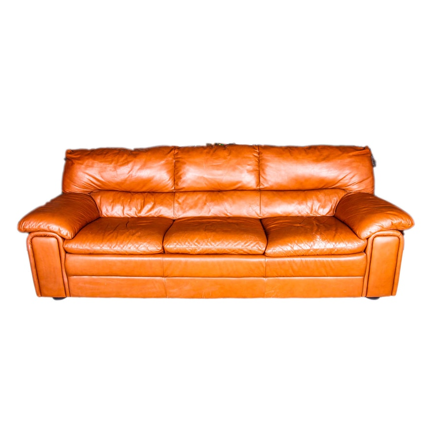 Caramel Color Leather Sofa Daniella Leather Sofa ...