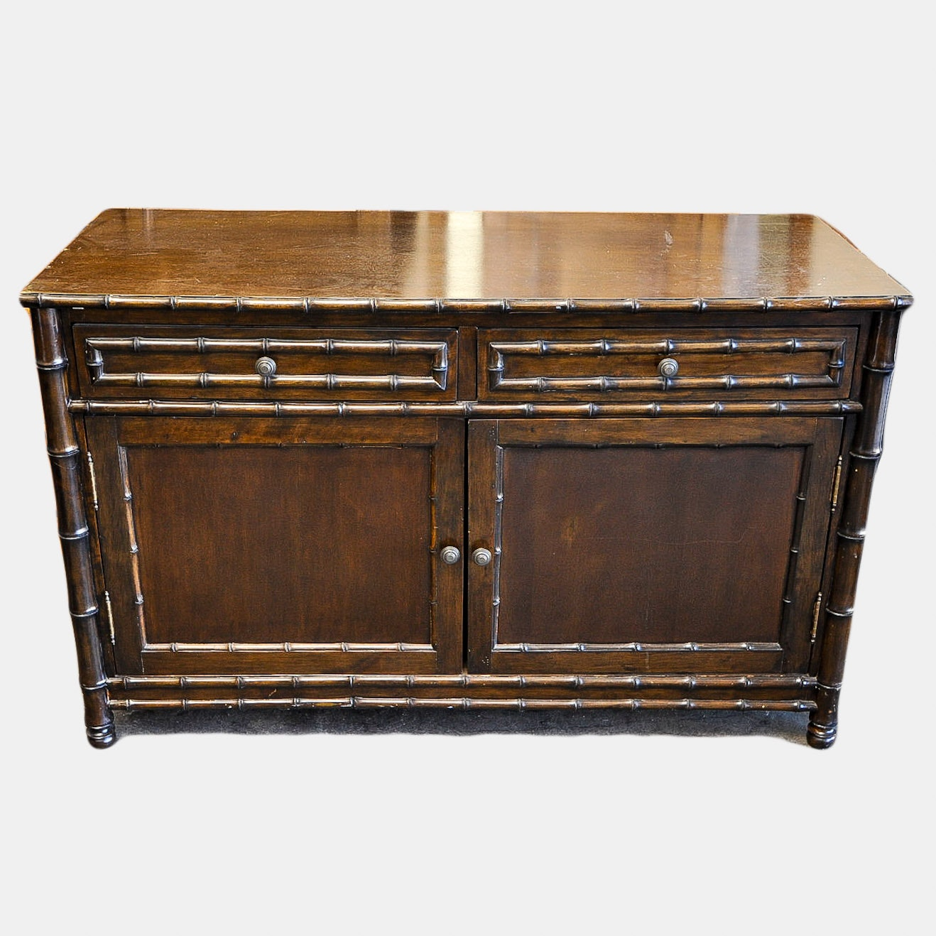 Faux Bamboo Contemporary Chest