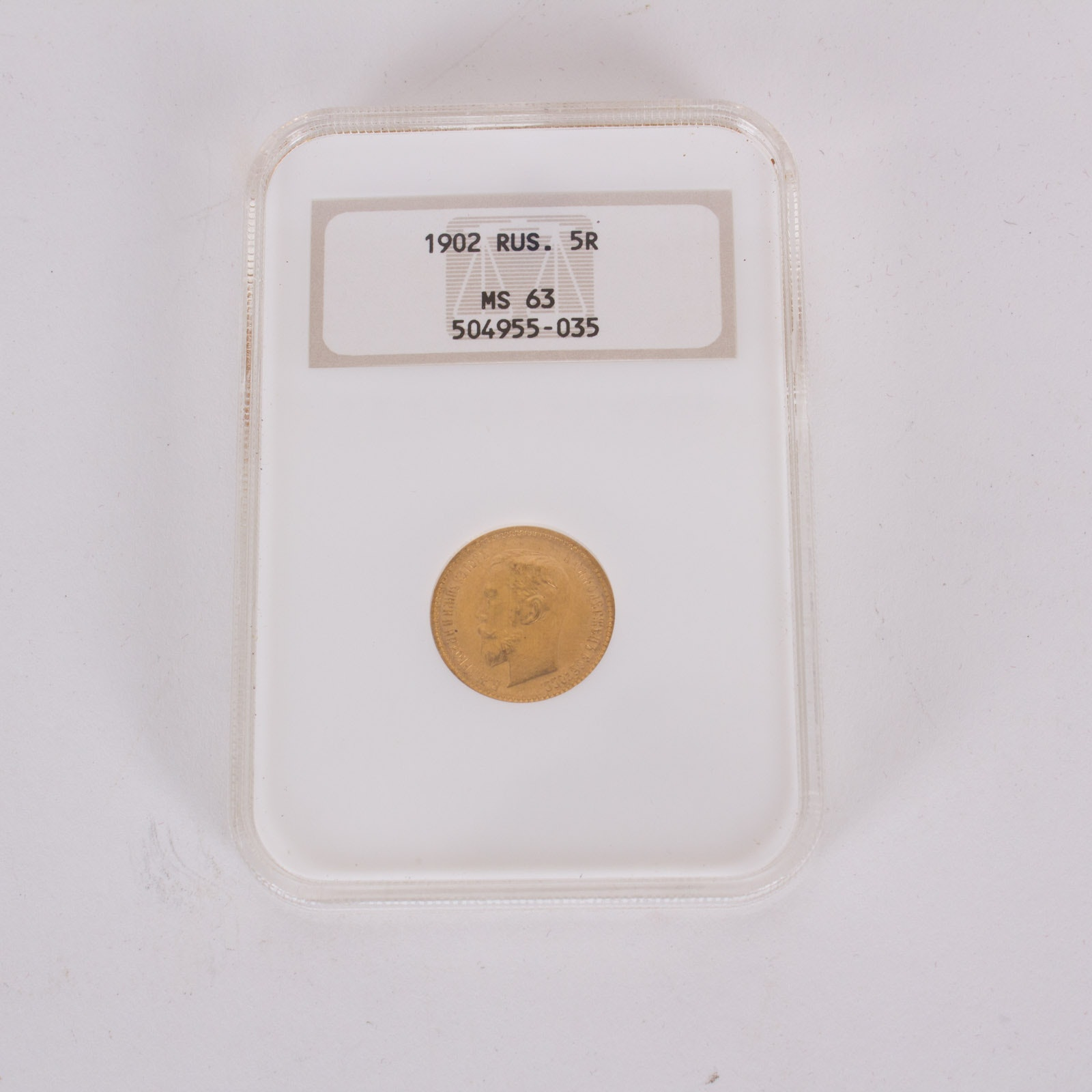 1902 Gold Russian 5 Roubles