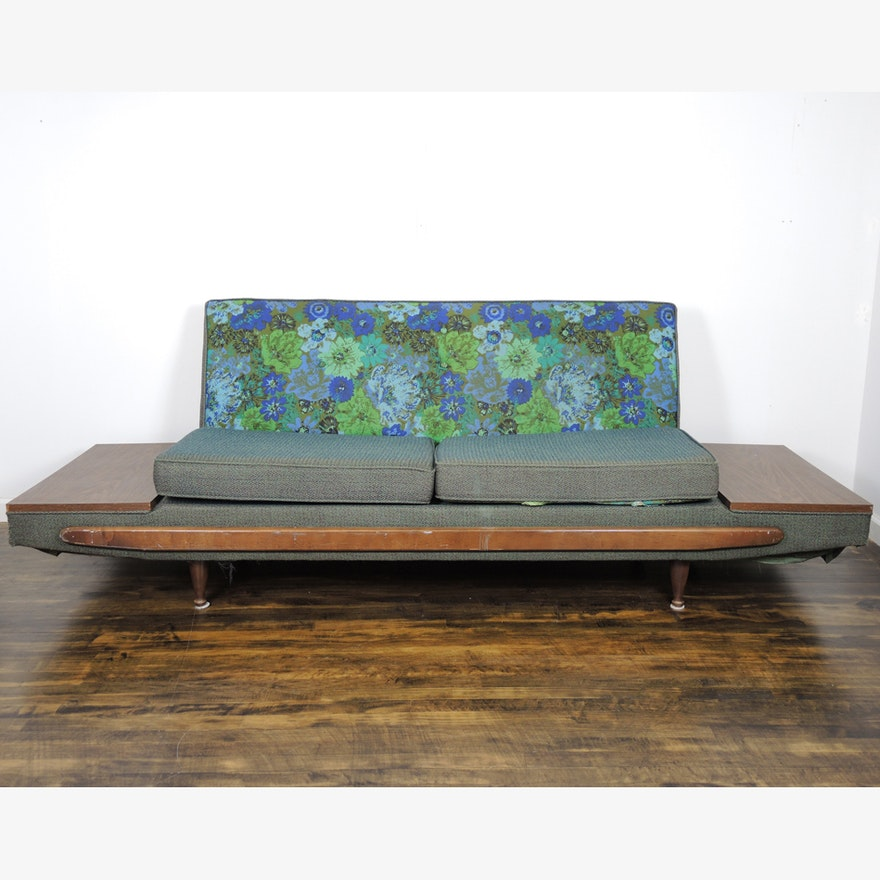 Awesome Adrian Pearsall Style Mid Century Sofa With Attached Tables Pabps2019 Chair Design Images Pabps2019Com